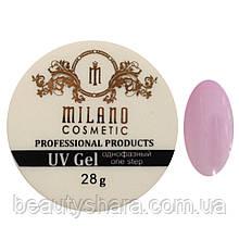 Гель для наращивания Milano однофазный (pink) 28 г