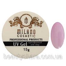 Гель для наращивания Milano однофазный (pink) 15 г
