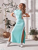 Довге ефектне плаття в спортивному стилі з розрізами по боках р-ри 42-44 арт. 465