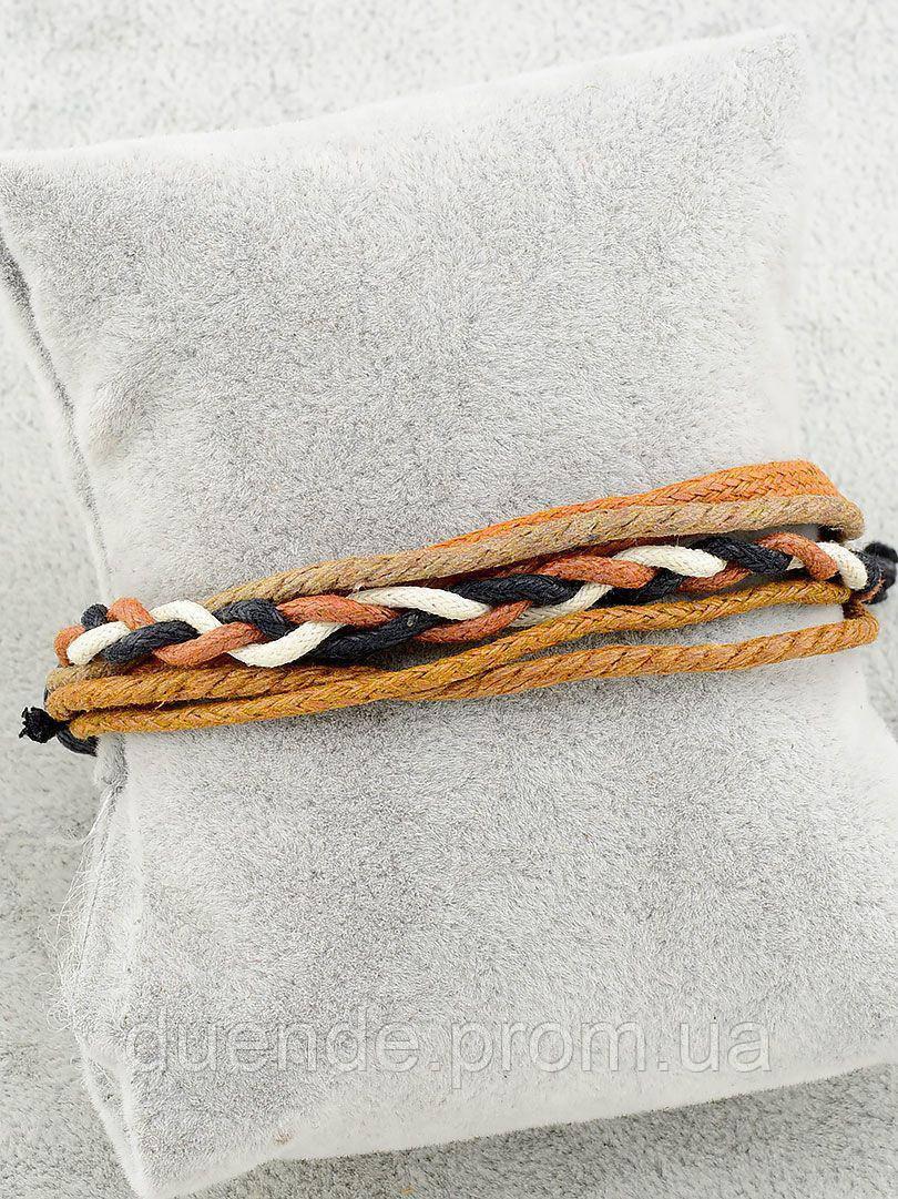 Браслет з еко шкіри, колір коричневий і його відтінки \ Sb - 0171.