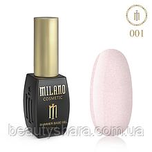 Кавер база Milano з шиммером Cover Shimmer Base 10 мл №01