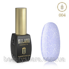 Кавер база Milano з шиммером Cover Shimmer Base 10 мл №04
