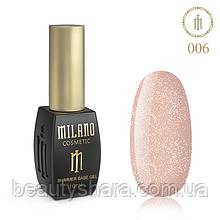 Кавер база с шиммером Milano Cover Shimmer Base №6, 10 мл