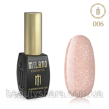 Килим база Milano з шиммером Cover Base 10 мл №06 - базове покриття камуфлирующее