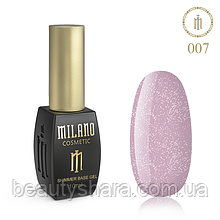 Килим база Milano з шиммером Cover Base 10 мл №07 - базове покриття камуфлирующее