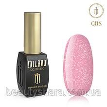 Кавер база с шиммером Milano Cover Shimmer Base №8, 10 мл