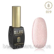 Кавер база с шиммером Milano Cover Shimmer Base №19, 10 мл