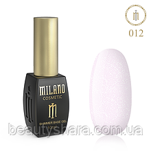 Кавер база с шиммером Milano Cover Shimmer Base №12, 10 мл
