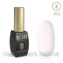 Килим база Milano з шиммером Cover Base 10 мл №12 - базове покриття камуфлирующее