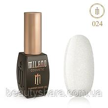 Кавер база Milano з шиммером Cover Shimmer Base 10 мл №24