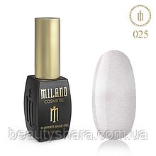 Кавер база Milano з шиммером Cover Shimmer Base 10 мл №25