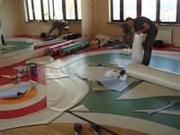 Укладка линолеума, ПВХ покрытий, ковролина и ковровой плитки