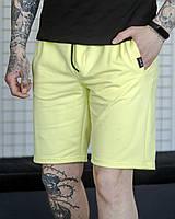 Мужские базовые трикотажные шорты .VIDLIK Basic желтые