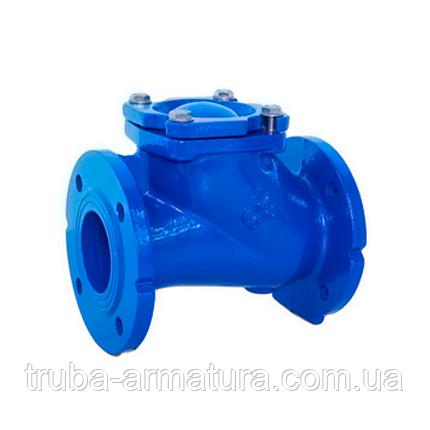 Клапан зворотний каналізаційний чавунний фланцевий TIS DN 200 PN 10/16, фото 2