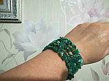 Браслет Амазонит, натуральный камень, цвет зеленый и его оттенки, тм Satori \ Sb - 0253, фото 2