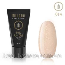 Полигель для ногтей Milano Polygel №14, 30 мл