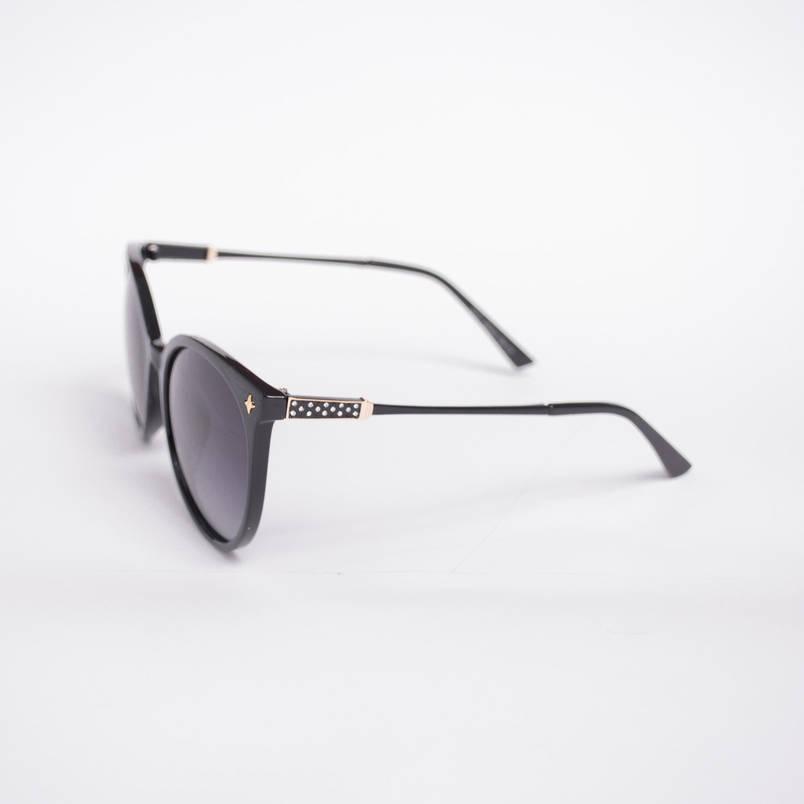 Поляризационные солнцезащитные очки черные - 6037 + футляр и салфетка, фото 2