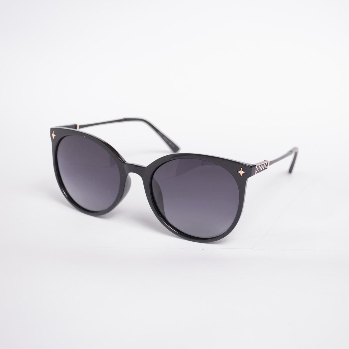 Поляризационные солнцезащитные очки черные - 6037 + футляр и салфетка