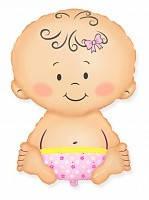 Качество! Воздушный шар из фольги для Украшения зала FM Мини-фигура Малыш Девочка