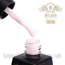 Гель-лак Milano Milk №06, 8 мл (молочный)
