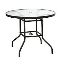 Стол Dublin со стеклом, диаметр 90*71 см