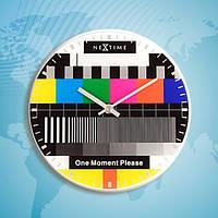 """Годинники настінні Next Time """"Testpage One moment"""" Ø20 см"""