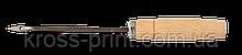 Шило банківське, дерев'яна ручка, довжина голки 12,5 см