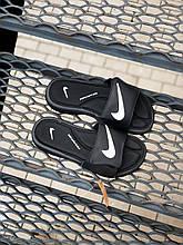 Чоловічі плескачі Nike (чорні) J237 стильні молодіжні тапочки