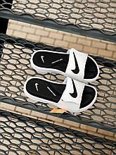 Чоловічі плескачі Nike (чорно-білі) J234 модні літні тапочки