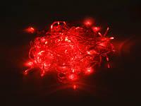 Гирлянда новогодняя светодиодная красная 100 диодов