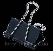 Биндер-зажим для бумаги, 41 мм, черный, по 12 шт. в карт.коробке