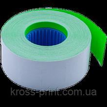 Цінник 26x16 мм (1000 шт, 12 м), прямокутний, внутрішня намотування, зелений