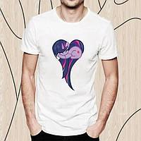 Детская футболка с принтом Сумеречная Искорка сердечком, Дружба – это Чудо Push IT
