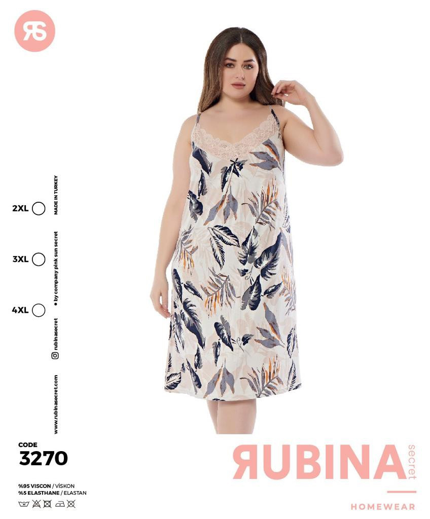 """Жіноча нічна сорочка""""RUBINA"""" Туреччина  Art-3270"""