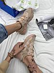 Женские кроссовки Adidas Ozweego (бежевые) AZ003 крутые молодежные кроссы, фото 6