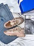 Женские кроссовки Adidas Ozweego (бежевые) AZ003 крутые молодежные кроссы, фото 10