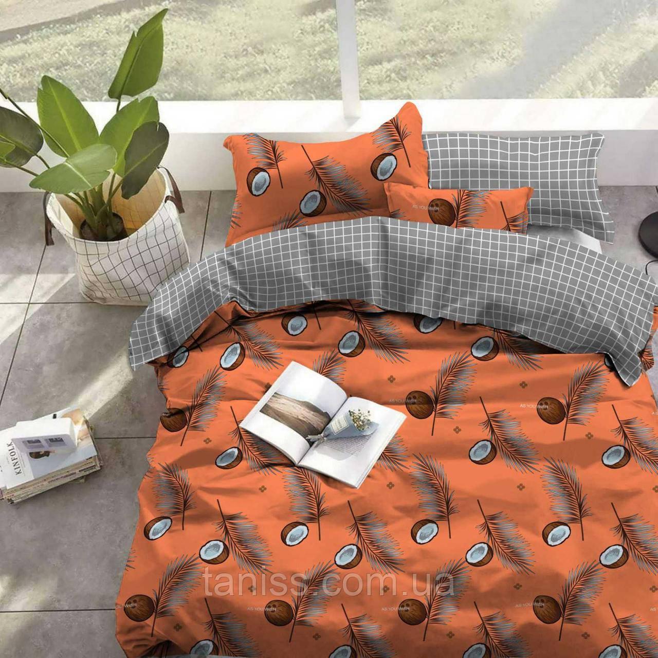 Двухспальный набор постельного белья Бязь Голд, расцветка как на фото,кокосы