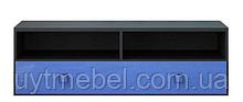 Тумба ТВ Аватар 130 венге м./синій (Гербор)