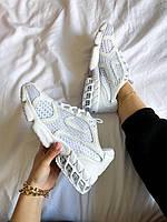 Мужские кроссовки Stussy x Nike Air Zoom Spiridon Caged 2 (белые) К3696 обувь летняя в сеточку