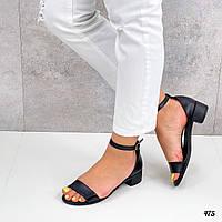 Кожаные женские босоножки ремешок вокруг ноги, фото 1