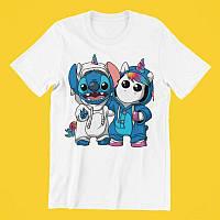 Детская футболка с принтом Стич Stitch и Единорог Push IT