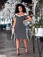 Платье-сарафан женское приталенное за колено на бретельках с кружевом р-ры 42-46 арт. 523