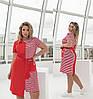 Летнее удобное платье женское красное в полоску (4 цвета) ТК/-61305