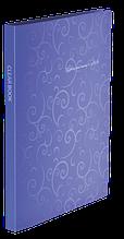 Папка пластиковая с 20 файлами, BAROCCO, А4, фиолетовая