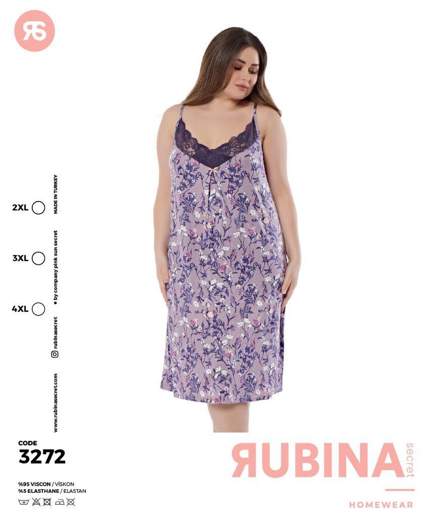 """Жіноча нічна сорочка""""RUBINA"""" Туреччина  Art-3272"""