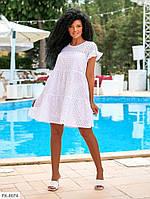 Сукня жіноча літнє короткий трапеція вільного крою з прошвы на підкладці р-ри 42-46 арт. 651