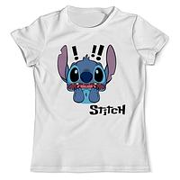 Детская футболка с принтом Стич, Stitch Push IT