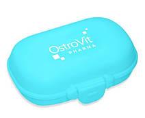 Таблетница OstroVit Pharma на 4 отделения, голубая