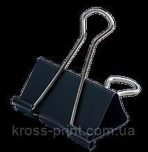 Биндер-зажим для бумаги, 51 мм, черный, по 12 шт. в карт.коробке