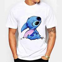 Детская футболка с принтом Stitch, Стич Push IT